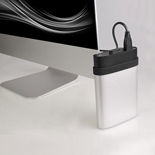 SP/Silicon Power 3 TB Rugged Armor A85M externe Anti-Shock Festplatte für Mac - Stoßgeschützt nach Militärstandard - IP68 wasserdicht + staubgeschützt mit USB 3.0 2.5-inch Portable External Hard Drive für Mac- HFS+ and Time Machine® wird unterstützt, silber matt