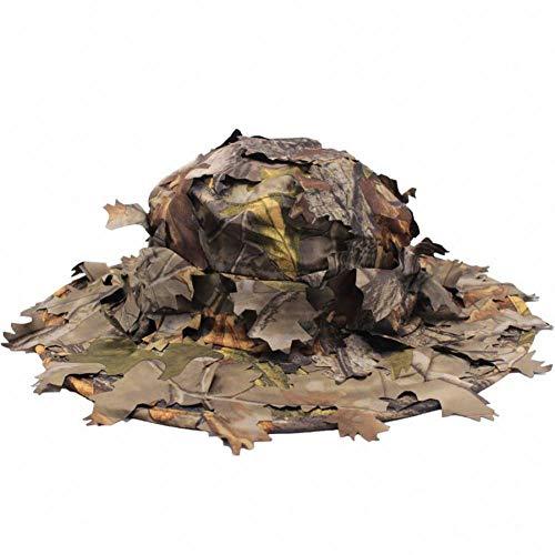 VKGJMHD Dschungel-Scharfschützen-Hut 3D Real Tree Leaf Camo Jagdhüte Mütze Airsoft-Mützen Herbstblatt Sneaky Camouflage Hunter Archery Cap -