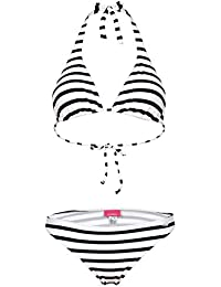 Venice Beach Triángulo Bikini Neck Holder rayas marina de White navy-white Talla:34