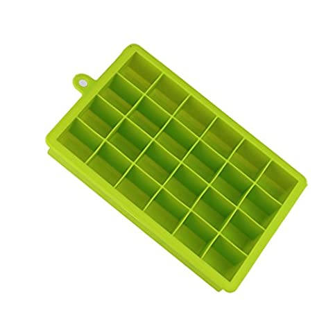 QUINTRA Hot Freeze Mold 24 Ice Cube Silicone Freeze Mold Bar Pudding Jelly Chocolate Maker Mold 15 Ice Cube (Green)