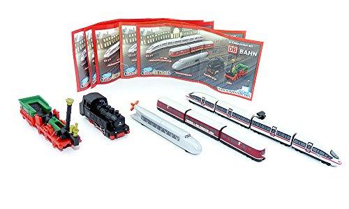 Kinder Überraschung, Alle 5 Züge. WM Zug, ICE 3, Adler, Zeppelin und Dampflok (Ice-modell)