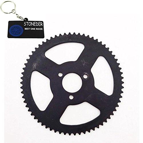 stoneder schwarz 25H 66Zahn hinten Kettenrad für 2Takt 47cc 49cc Motor Chinesische Mini Moto Pocket Bike Minimoto