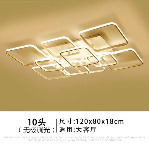 QIAO Kreative Persönlichkeit Decke Moderne Minimalistische Wohnzimmer Lampe Licht LED Moderne Lampe Dimmen Schlafzimmer Licht, 10 Head 120cm