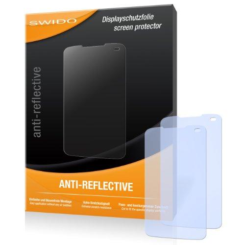 SWIDO X030487 antireflektierend hartbeschichtet Displayschutzfolie für LG E510 Optimus Hub/E-510 (2-er Pack)