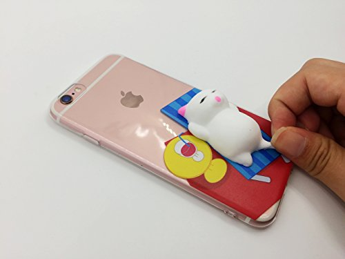 Squishy 3D Animal Cat Chat iPhone 7 Coque, Cute Stress Silicone Fun Case for iPhone 7 (Color-B) Color-B