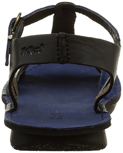 Kickers Waggbis, Sandales femme Noir (Noir/Bleu)