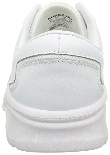 Supra Noiz, Baskets Basses Mixte Adulte Blanc (White/White)