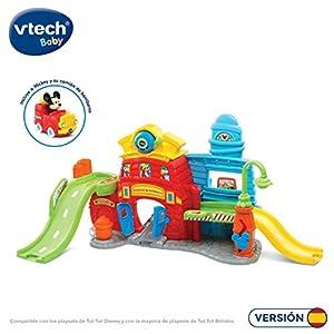 VTech- TutTut Bólidos Disney Estación de Bomberos de Mickey playset Interactivo con música y Voces Reales de los Personajes, Color (3480-511622)