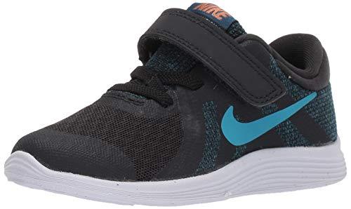 Nike Jungen Revolution 4 (TDV) Gymnastikschuhe, Schwarz (Off Noir/Lt Current Blue Force/Metallic Copper 016), 27 EU -