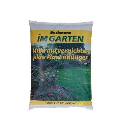 12 kg Rasendünger mit Unkrautvernichter für 400m² Premium Beckmann im Garten FREI HAUS von Beckmann bei Du und dein Garten