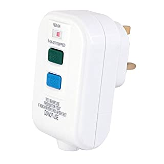 RCD Trip Switch Wire in 13 Amp Plug in Socket Circuit Breaker Test Reset RCD Black
