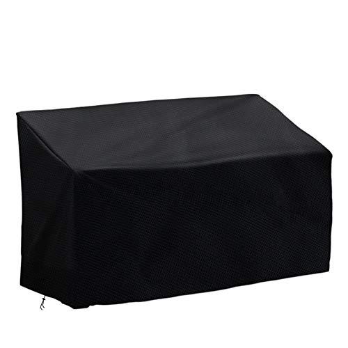 Vzesok Gartenbank Abdeckung Schutzhülle für 3-Sitzer Bank Abdeckhauben für Bänke Wasserdichten Nähten 420D Oxford Gewebe Schwarz 163x66x63/89cm