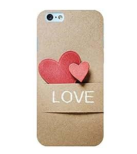 OBOkart Love pocket 3D Hard Polycarbonate (Plastic) Designer Back Case Cover for Apple iPhone 6 :: Apple iPhone 6s