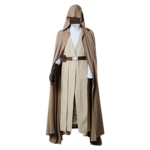 Star Wars 8 The Last Jedi Luke Skywalker Outfit Cosplay Kostüm Herren Ver.2 L