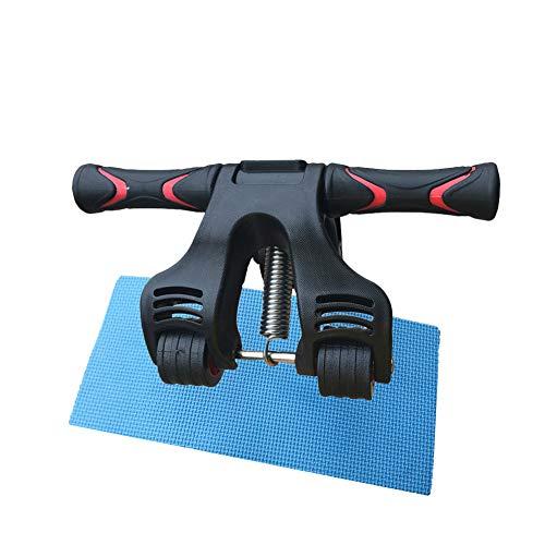 DAXINYANG Frühling Falten Bauchmuskel Rad Roller Rad Faltbare Rad Home Gym Roller für Core Training und Training mit Kniepolster (Rad Roller Frühling)
