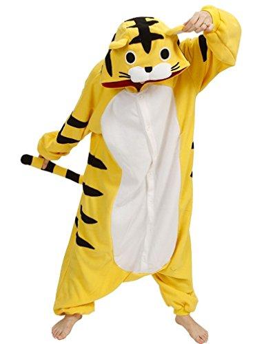 Honeystore Unisex Tiger Pyjamas Kostüm Cosplay Tier Siamesische Kleidung Party Freizeitkleidung (Maskottchen Kostüme Tiger)