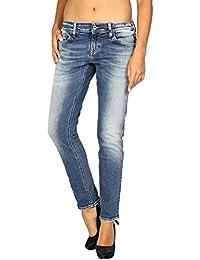 be893ddc98 Meltin Pot - Jeans Vaquero para Mujer Maelle - Regular Loose - Largo 29
