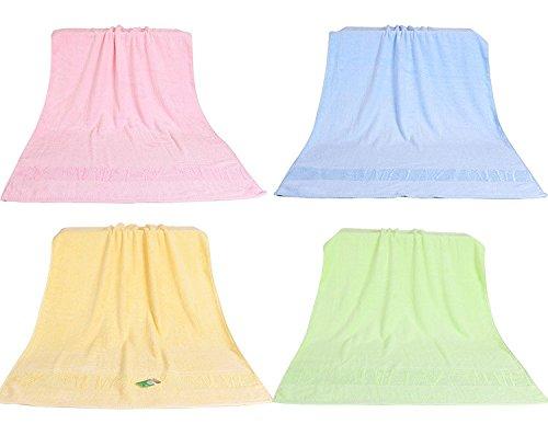 Bambusfaser Handtuch nach Dicken erhöhen, weiche Baumwolle große Badetücher Super saugfähig Schnell trocken große Sommer von Männern und Frauen, Grün Blau