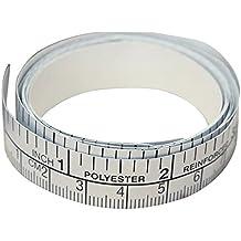 Cinta autoadhesiva de medición de PVC, cinta adhesiva plateada, cinta métrica adhesiva, regla