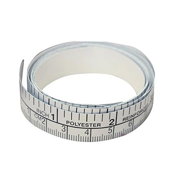 150cm PVC Metric Measure Soft Ruler Tape DIY Self Adhesive Measuring Tape Ruler Sticker Home Sewing Tool Accessory(1.5m 1.5cm)