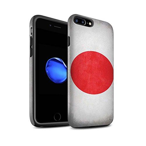Coque Matte Robuste Antichoc de STUFF4 / Coque pour Apple iPhone 7 Plus / Albanie/Albanais Design / Drapeau Collection Japon/japonois