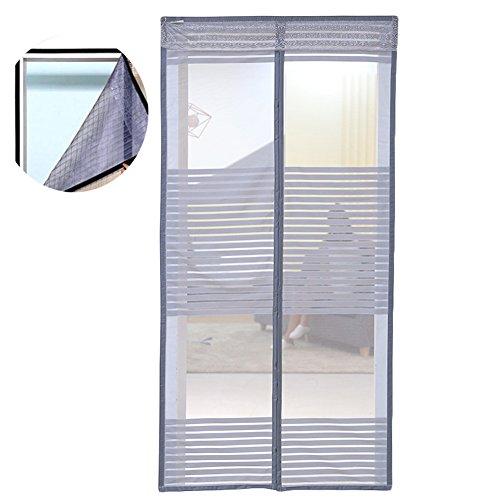 Liveinu zanzariera magnetica per porte finestre tenda zanzariera con magneti rete anti zanzare zanzariera strisce laccio adesivo fotogramma intero versione grigio 70x200cm