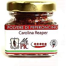 Polvere di peperoncino Carolina Reaper (15 g) - Il PIÙ PICCANTE DEL MONDO - Mr PIC: il Peperoncino Toscano di ata qualità - Carmazzi: la più ampia linea di prodotti piccanti in Italia