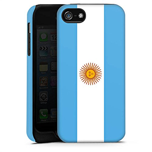 Apple iPhone X Silikon Hülle Case Schutzhülle Argentinien Flagge Argentina Tough Case matt