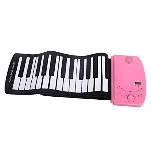 Handrollentastatur XTLbaofu mit MP3 61-Tasten verdickt, geeignet für Kinder, Erwachsene Anfänger üben