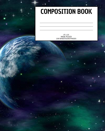 Composition Book: Galaxy; wide ruled; 100 sheets/200 pages; 8