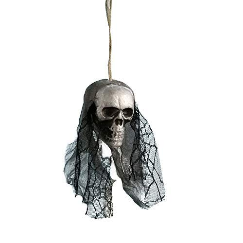 XINAINI Halloween HäNgende Dekoration Piraten Leiche, Spukhaus, Bar, Haus, Gartendekoration,3D Schwebendes SchäDel Deko Skulptur,Dekoration Kreativem Handwerk FüR Ausgangs/Festival Dekor