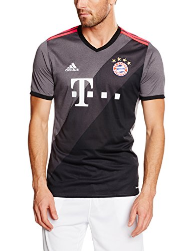 Adidas 2ª Equipacion FC Bayern 2015/2016 Camiseta, Hombre, Gris (Granit/Grpudg / Negro), L