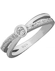 14ct Oro Blanco Anillo de Diamante, 0,22 ct Diamante, GH-SI, 4,29 gramos,