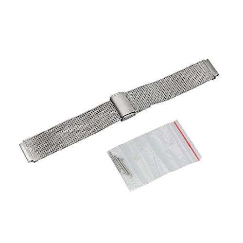 Für Huawei Fit Honor S1 Watch Transer® Ersatz Uhrenarmbänder Fashion Luxus Milanese Edelstahl Uhrenarmband Armband für Uhren Länge: 17cm (Silber)