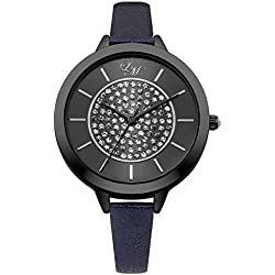 Little Mistress Women's Quartz Watch with Grey Dial Analogue Display and Navy Plated Bracelet LM006