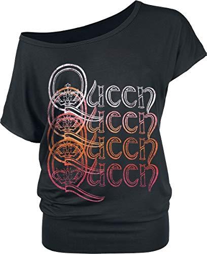 Queen Repeat Logo T-Shirt schwarz S