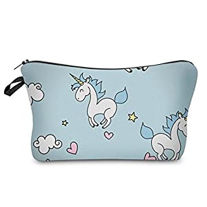 ZHOUBA Women Cute Unicorn Printed Small Handbag Makeup Pouch Cosmetics Bag Sanitary Napkins Case Purse
