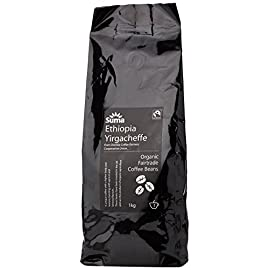 Suma Fairtrade Organic Ethiopia Yirgacheffe Coffee Beans 1 kg