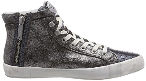 Pepe Jeans London CLINTON SNAKE METALLIC Damen Hohe Sneakers Silber (934SILVER)