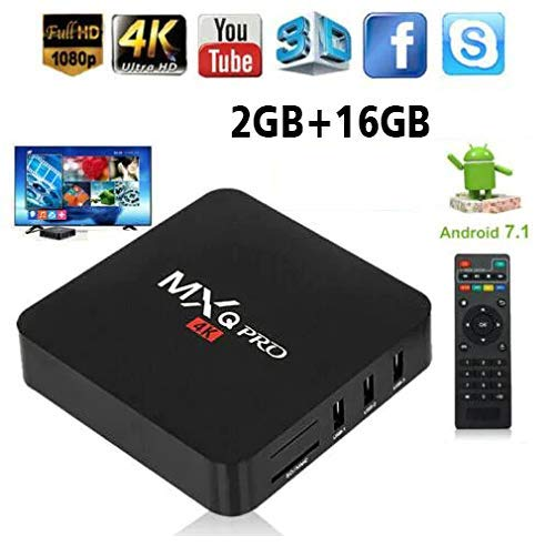 Buy Rampotox MXQ Pro 4K Android TV Box with 2GB RAM/16GB ROM 64Bit Quad Core Wi-Fi online in India at discounted price