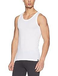 Undercolors Mens Cotton Vest (011DI_Small_White)