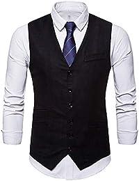 7637e85cd2d87 Elegante Chalecos Hombre Vestir Casual Negocio Boda Slim Fit Traje Blazers  Sin Mangas STRIR