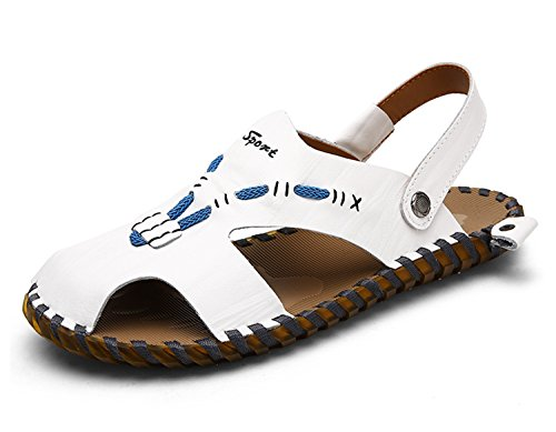 Miyoopark , Sandales Compensées homme Blanc