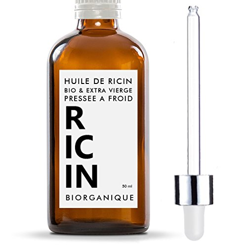 Huile de Ricin 100% Bio, Pure et Naturelle - 50 ml - Soin...