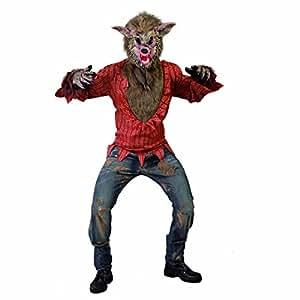werwolfkost m b ser wolf halloweenkost m l 52 54 bestie horrorverkleidung halloween wolfskost m. Black Bedroom Furniture Sets. Home Design Ideas