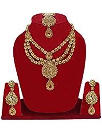 Traditional Gold Plated Kundan Choker Necklace Set For Women / Necklace Set For Women Traditional