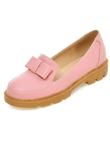 ZQ gyht Scarpe Donna - Ballerine - Casual - Comoda / A punta - Piatto - Finta pelle - Blu / Rosa / Beige , pink-us10.5 / eu42 / uk8.5 / cn43 , pink-us10.5 / eu42 / uk8.5 / cn43 pink-us4-4.5 / eu34 / uk2-2.5 / cn33