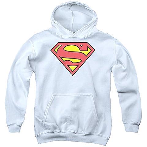 Superman - - Logotipo clásico para jóvenes Sudadera con capucha