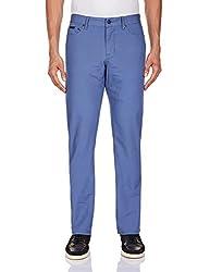 Calvin Klein Mens Casual Trousers (701549652094_4ATB603_30W x 34L_Navy Blue)