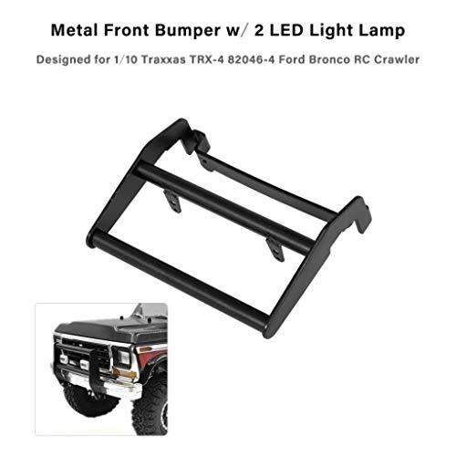 Fcostume Metall Frontstoßstange mit 2 LED-Lichtlampe Für Ford-Modell (as Shown) (Ford Fernbedienung Bronco)